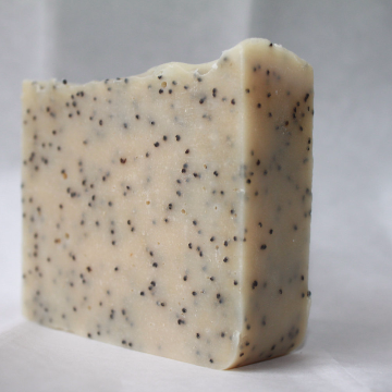 Handcrafted Goat Milk Soap Blueberry with Poppy Seeds Gardeners Soap, Exfoliating Soap